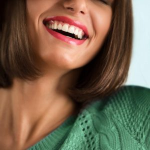 restorative dentistry treatments   Woman with beautiful smile.